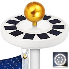 solar led flagpole light grde solar flag pole light 30 led flagpole downlight lighting night