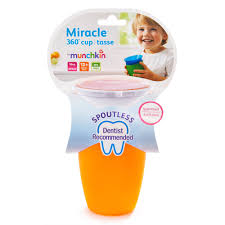 munchkin miracle 360 10oz sippy cup bpa free 2 pack pink orange