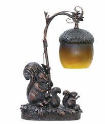 squirrel acorn light table lamp desk accent bronze finish 91 768