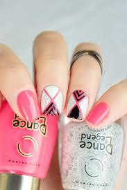 geometric nail art with textured nail polish tutorial nail