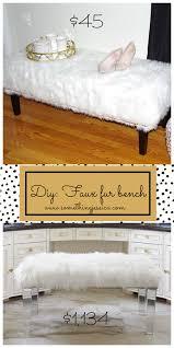 Horchow Home Decor Diy Faux Fur Bench Horchow White Massoud Sheepskin For 1 134