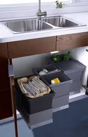 best 25 contemporary kitchen trash cans ideas on pinterest kitchen design idea hide pull out trash bins in your cabinetry