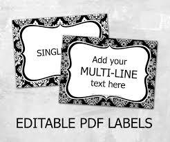 editable printable jar labels editable damask labels editable labels for mason jars label