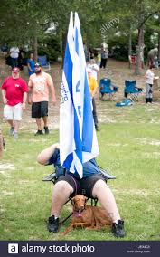 Pensacola Flag Pensacola Florida Usa 27th June 2017 Man Displays His Jewish
