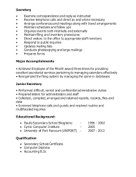 Sample Secretary Resume by Secretary Resume