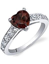 amazon co uk garnet rings women jewellery