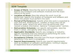 Scope Of Work Template Excel Overview Of Project Management P Msp2010 2 11