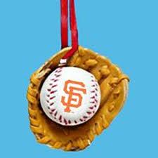 major league baseball san francisco giants baseball in glove