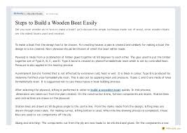 steps to build a wooden boat easily