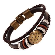 braided leather bracelet with charms images Leather bracelets ornacraft jpg