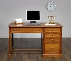 bureau merisier bureau 5 tiroirs jeanne en merisier de style louis philippe meuble