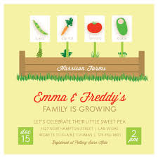 s shower invitations baby shower invitations growing family garden at minted