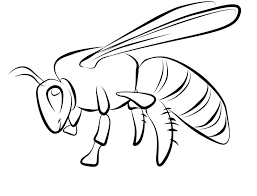 small printable bee coloring pages kids coloring