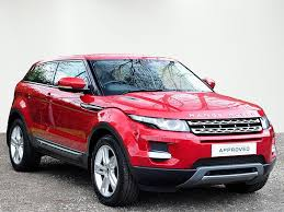 red range rover land rover range rover evoque td4 pure tech red 2012 03 30 in