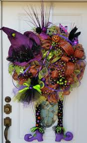 witch boot halloween decorations 30 best halloween weaths images on pinterest halloween mesh