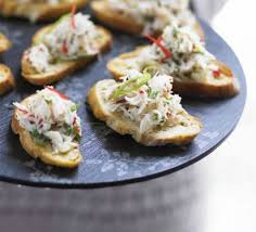 canape toast crab lime chilli toasts recipe food