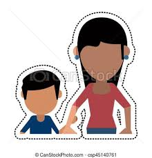 sketch mom and dad holding a small child vector vector