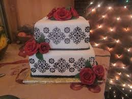 black white and red wedding cake cakecentral com