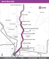 light rail w line north metro rail n line