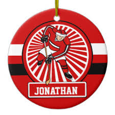 hockey player ornaments keepsake ornaments zazzle