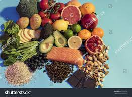 collection foods listed being beneficial cardiac stock photo