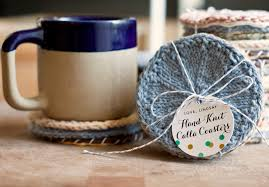 wedding gift knitting patterns handmade gift idea knitted coasters gift favor ideas from