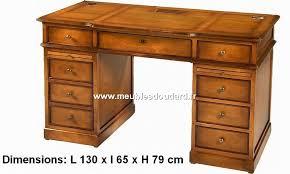 bureau rustique meuble bureau merisier 5 tiroirs 1 porte réf 530