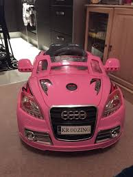 pink audi pink audi 12v electric car in cardiff gumtree