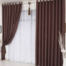 Curtains For Brown Living Room Chocolate Brown Curtains Are Modern Style