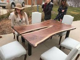 Slab Dining Table by 21 Best Wood Slab Dining Tables Images On Pinterest Wood Slab