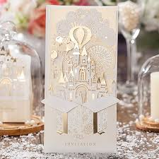 luxurious 3d wedding invitations laser cutting party cards