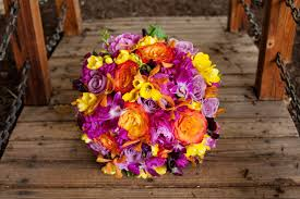 purple and orange wedding ideas purple yellow and pink wedding colors the best flowers ideas