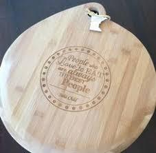 monogrammed serving platter laser engraved maple board customized monogram serving platter or