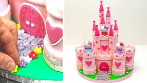 cake how to princess castle hello play cake how to make by