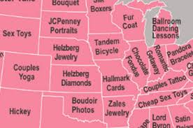 valentines day gifts map shows the most googled s day gifts in every state
