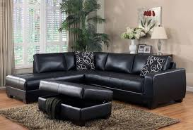 small black leather sectional sofa decoration ideas fabulous small