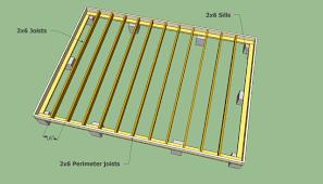 shed floor plan building a wood floor with concrete pillars playhouse floor
