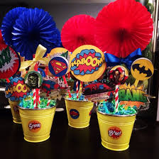 party city after halloween sale superhero centerpieces using free printables straws and fans from