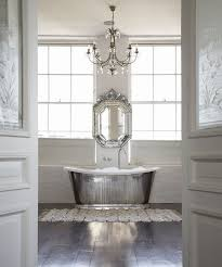 Silverbathtubinwhitebathroomjpg - Silver bathroom