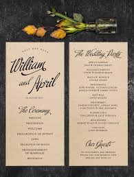 kraft paper wedding programs 10 wedding programs for vintage weddings mywedding