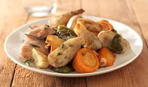 cuisiner des poivrons verts topinambours et escalopes de porc rôties au four recette saine