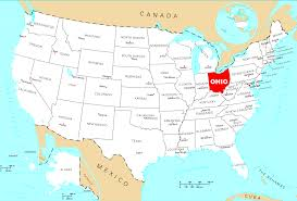State Map Of Ohio by Where Is Ohio Located U2022 Mapsof Net
