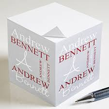 personalized sticky note cubes personally yours