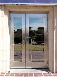 Commercial Metal Exterior Doors Steel Entrance Door Decoration Fancy Steel Entry Doors Or