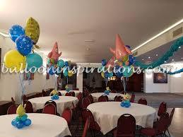 Spongebob Centerpiece Decorations by Underwater Balloon Decor Sponge Bob Themed Birthday Party