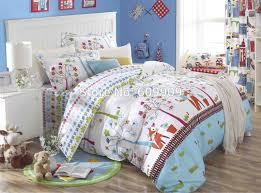 Forest Bedding Sets Fox Birds Woodland Bedding 5 Pieces Bed Set 100 Cotton