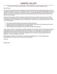cover letter for pharmacist free download cover letter sample for