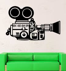movie camera film reel home cinema vintage theatre vinyl wall art