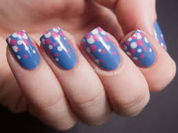 blue and pink gradient dots tutorial chalkboard nails nail