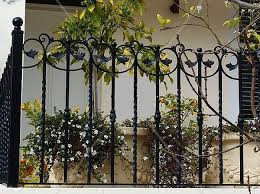 gates and fences design in wrought iron decorative fence ideas